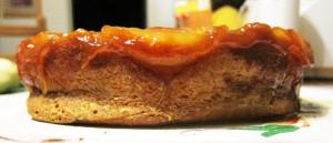 Pineapple Upside-Down Rum Cake Side