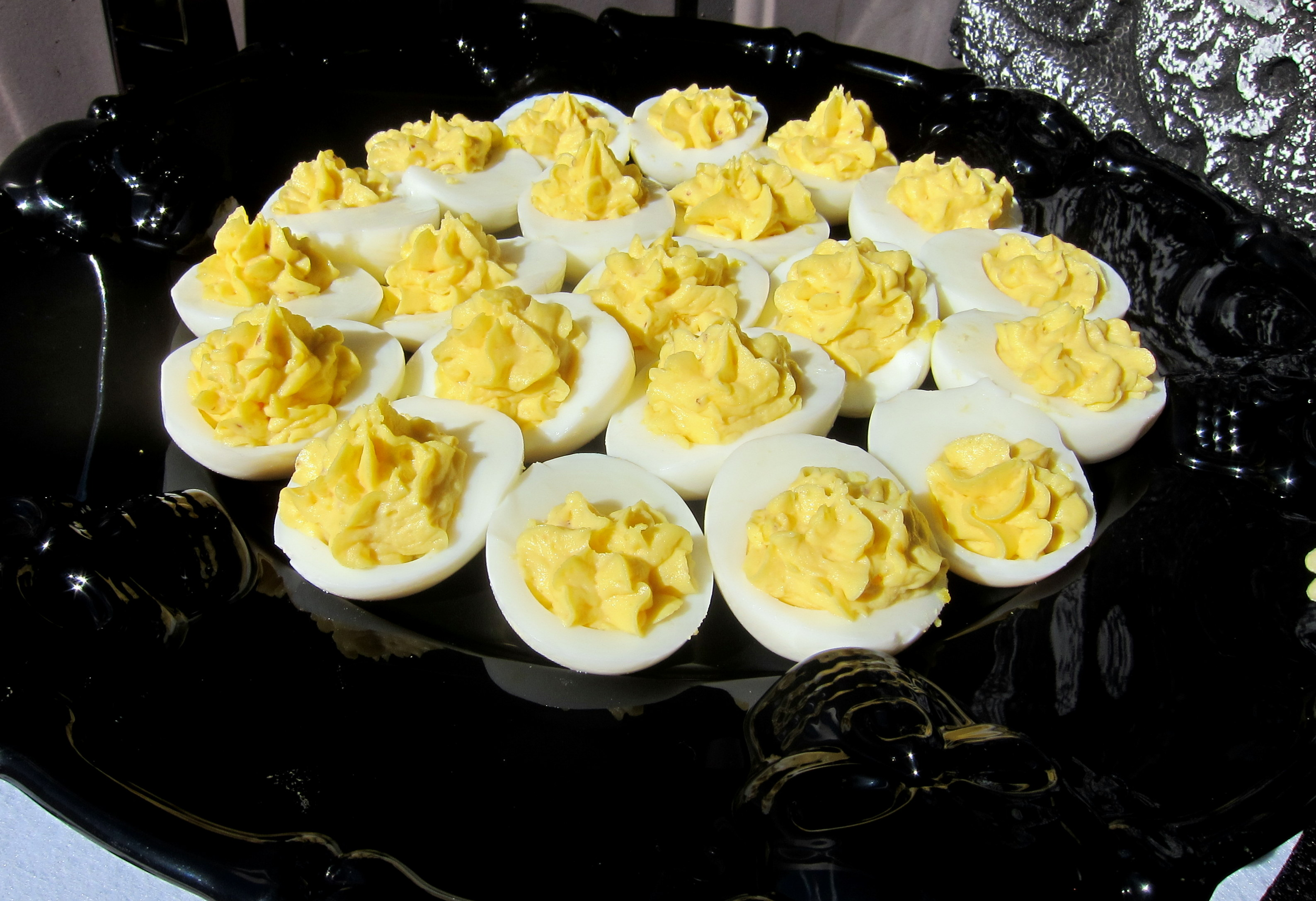 Vampire Repellent aka Garlic Deviled Eggs