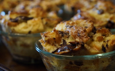 Chocolate Croissant Bread Pudding Cups, and the versatility of bread pudding