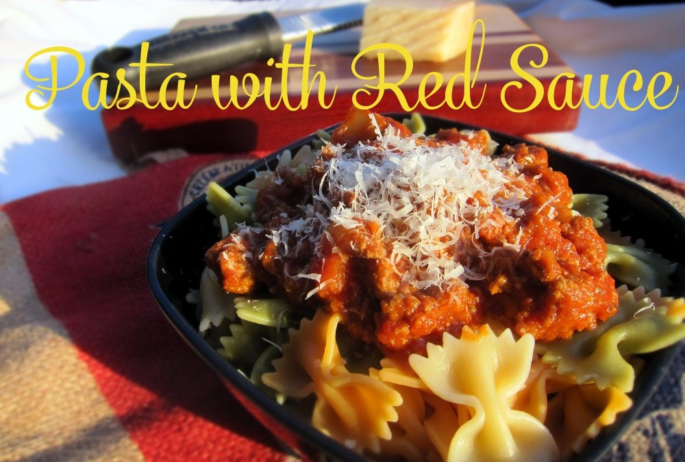 Pasta with Red Sauce