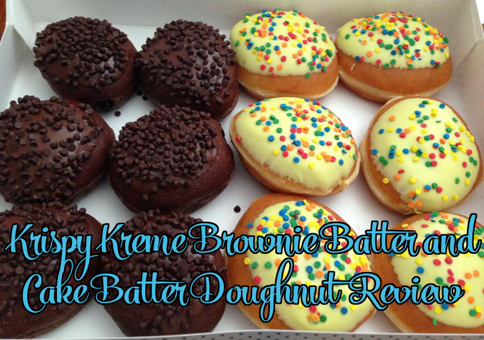 Krispy Kreme Doughnut Monthly Flavor Review: Brownie Batter and Cake Batter