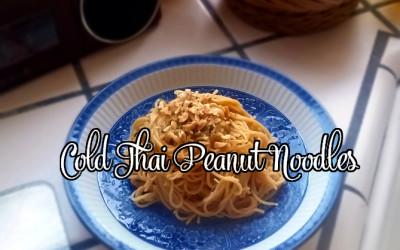 Cold Thai Peanut Noodles