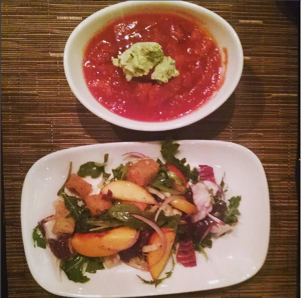stone fruit and soup