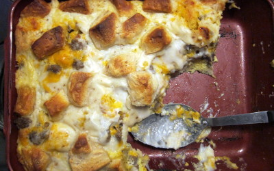 Gif Recipes – Biscuits and Gravy Bake